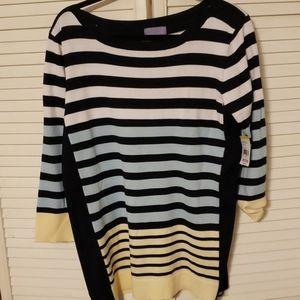 Laura Scott women's 1X sweater 3/4 slv NWT